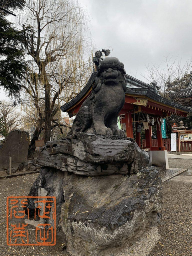 浅草神社 狛犬 吽形